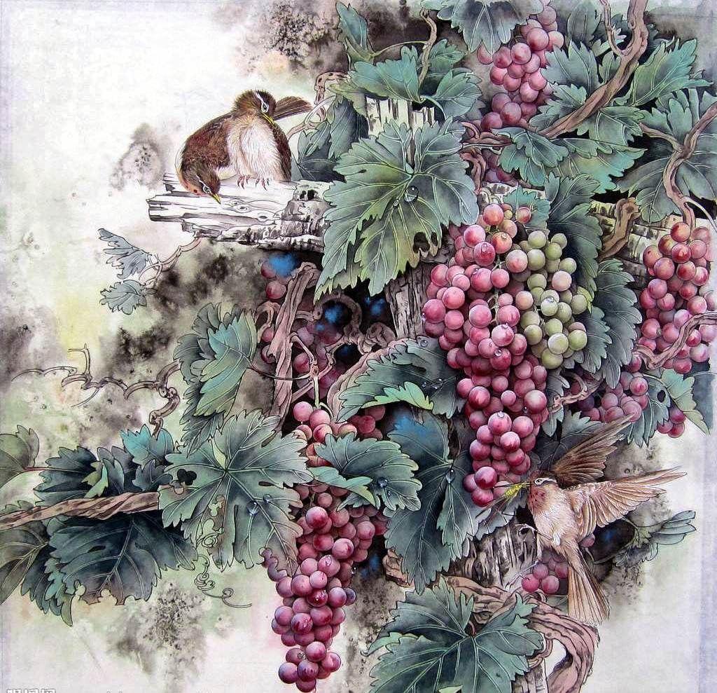 предполагает декупаж картинки виноград инструкции для пяти