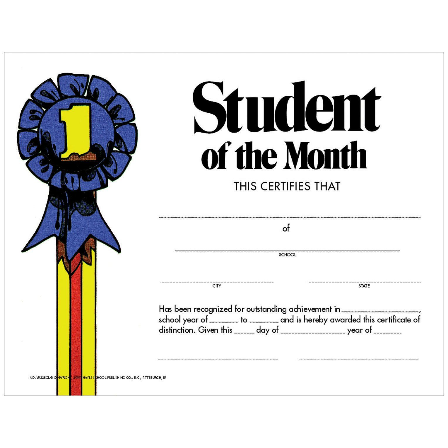 Student Of The Month 30pk Certificate In 2021 Student Of The Month Student Student Certificates Student of the month award template