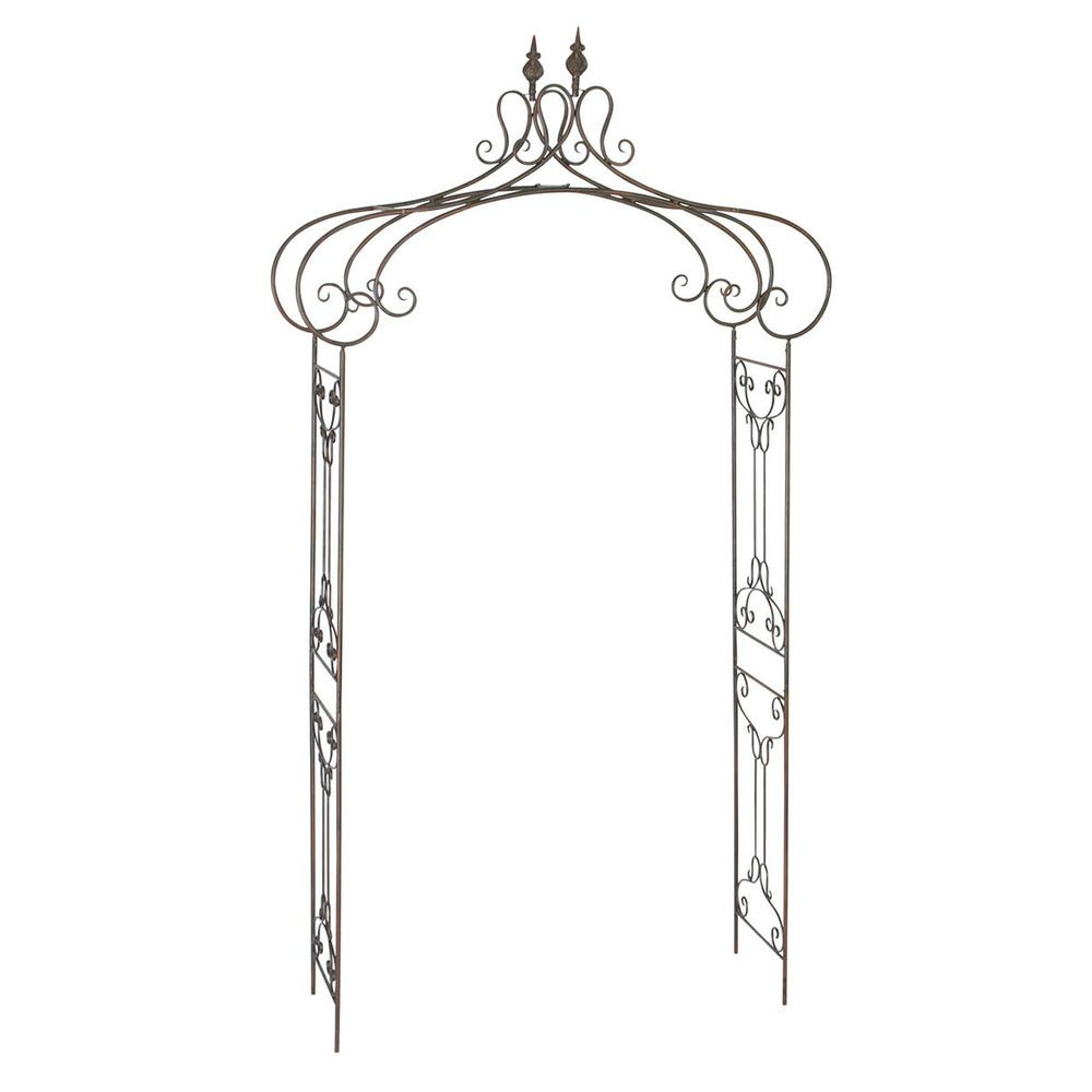 Decorative Rustic Metal Garden Arch Gothic Arbor Frame 400 x 300