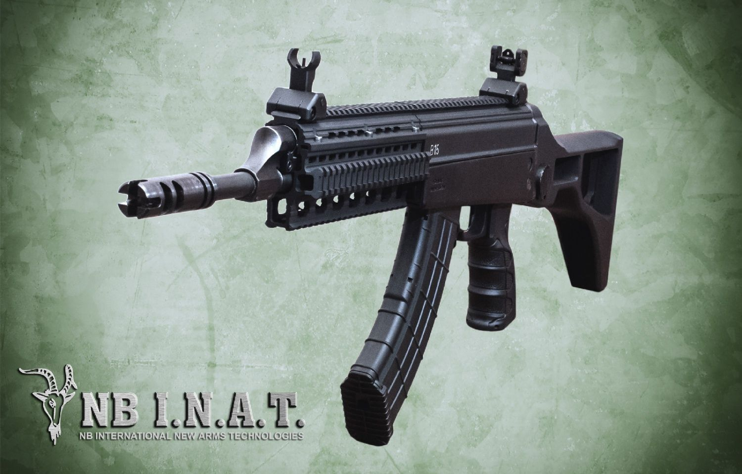 A design out of Serbia, from a company named NB International New Arms…