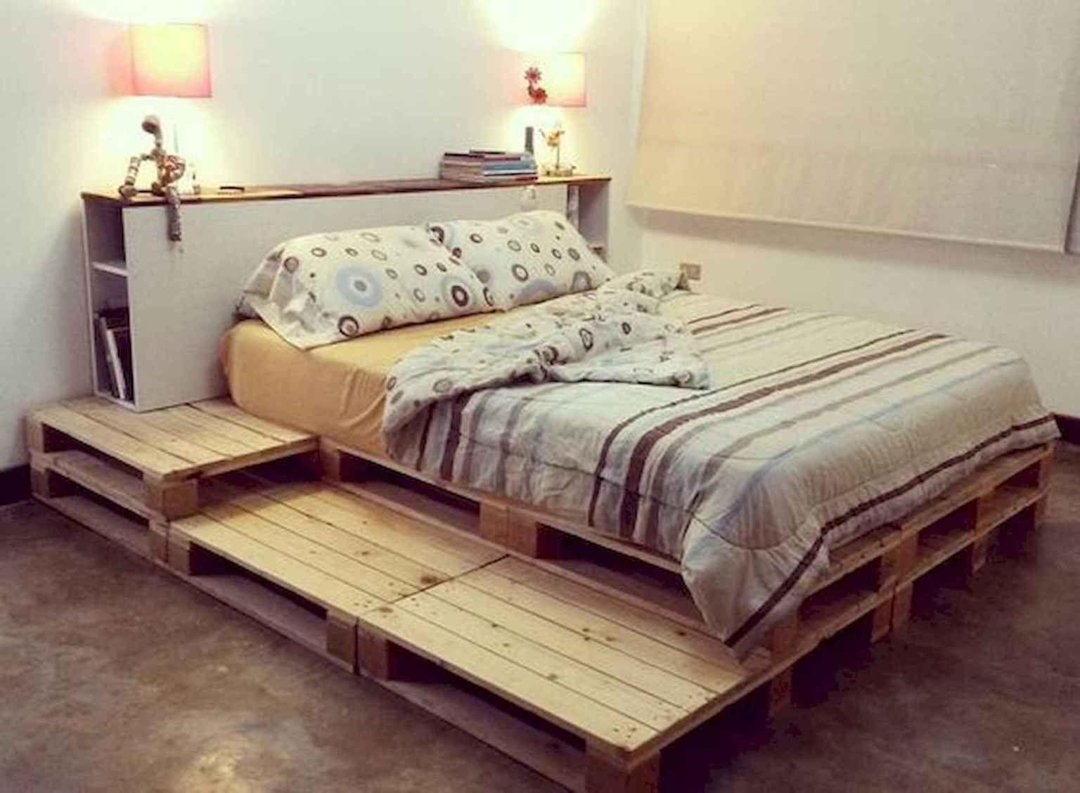diy queen bed frame in 2020 Diy pallet bed, Pallet bed