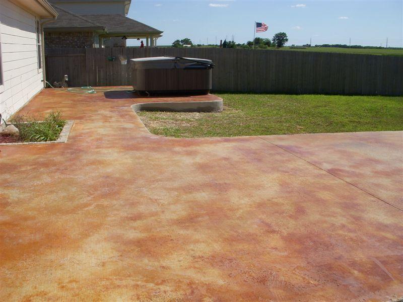 stained concrete patio colors. Pflugerville Tx Stained Concrete Patio Colors C