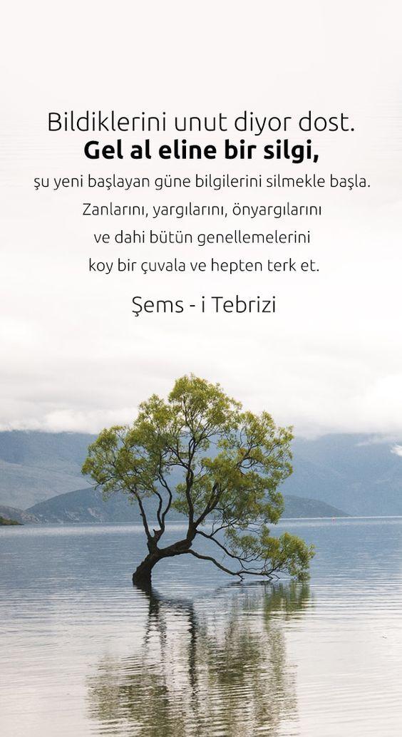 Resimli Hz. Şems-i Tebrizi Sözleri - Dini Resimler | diniresimler.com