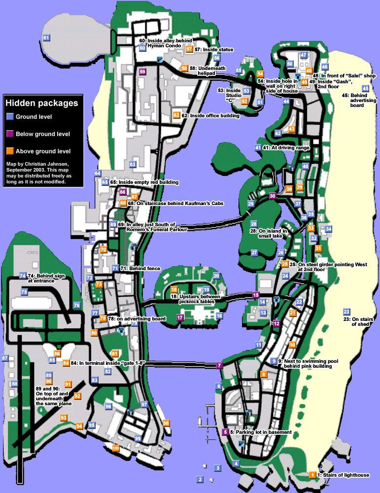 Vice City Map Properties GTA Vice City: GTA Vic...