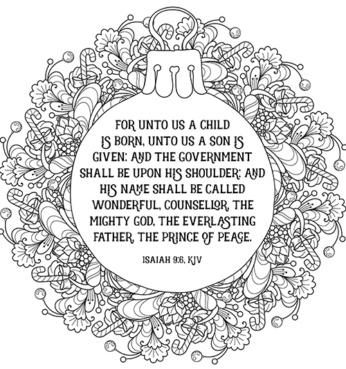 religious coloring pages for christmas - photo#36