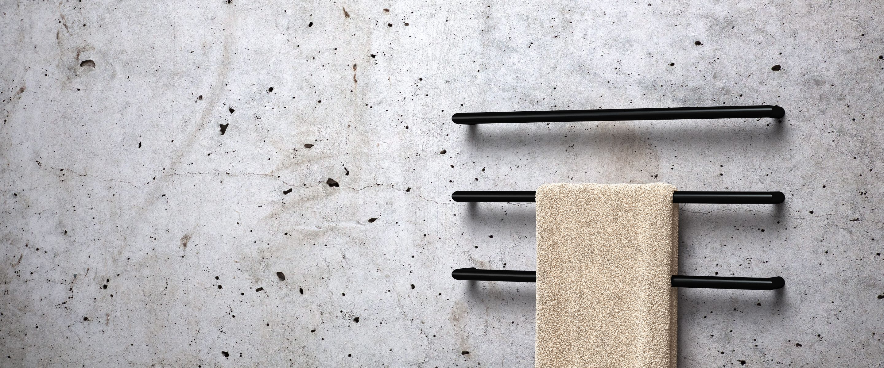 Soft curves | Delicate design.The Roll Single Heated Towel Rails ...