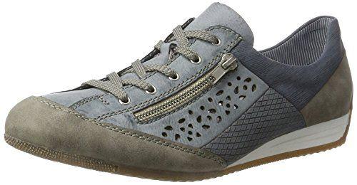 Rieker L0912, Baskets Hautes Femme, Beige (Frost/Beige), 40 EU