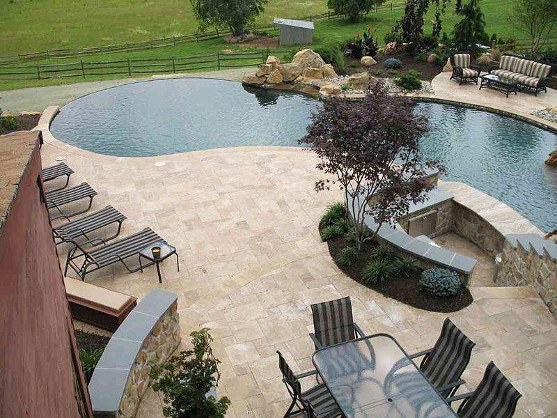 travertine tile pool deck pictures | pool-tiles-travertine | pool