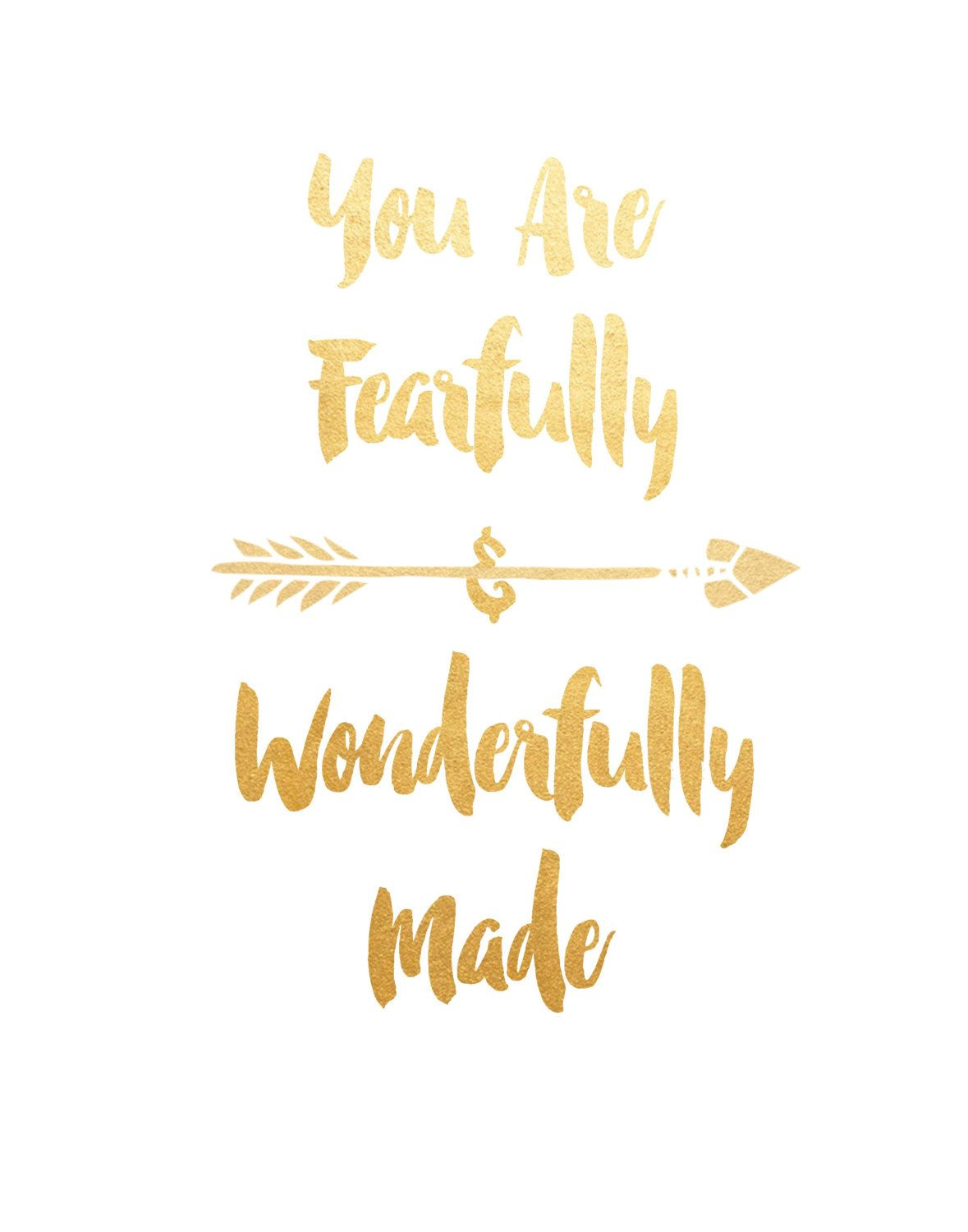 You Are Fearfully And Wonderfully Made Printable Art | House Ideas ...