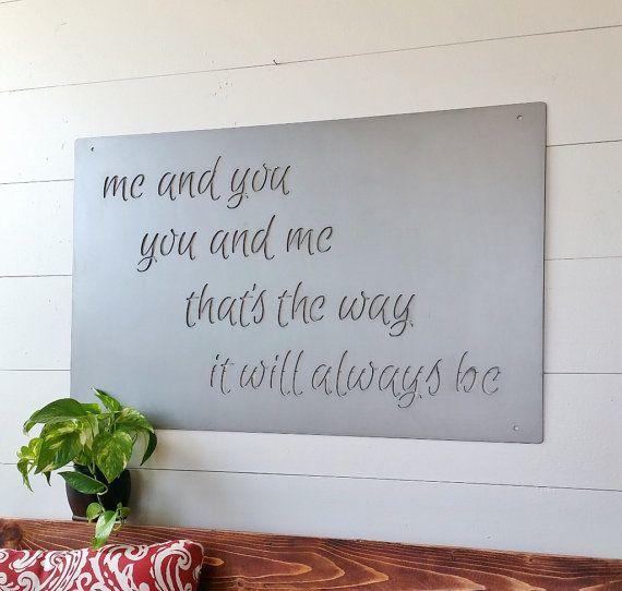 10122dbc9aeb4 Large Metal Custom Quote Sign and Sayings, Inspirational ...