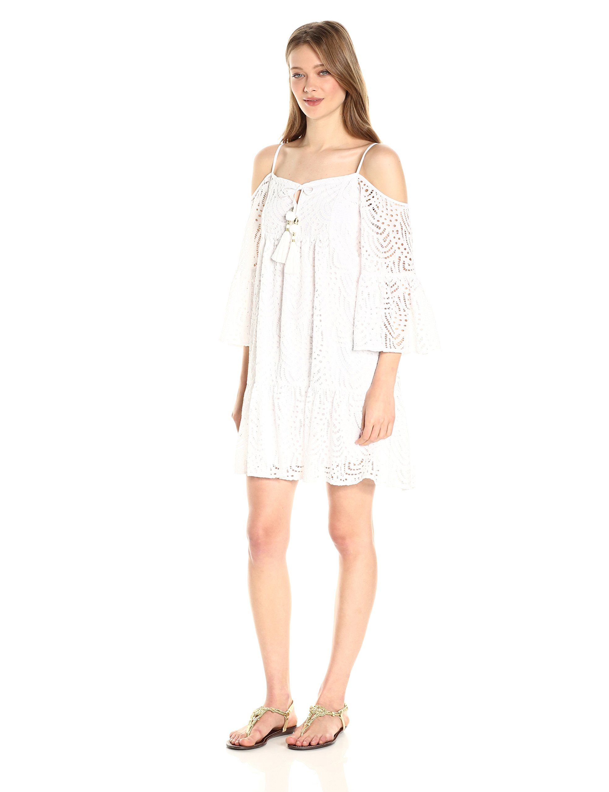 Lilly Pulitzer Women's Alanna Dress, Resort White Marine Tropic Lace, S