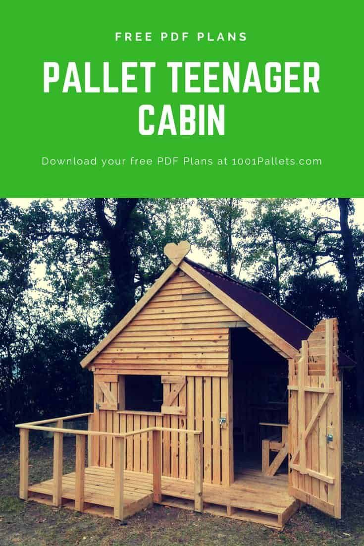 Pallet Cabin & Clubhouse Build Your Own 19 Pallets Teenager Cabin Hideaway • 1001 Pallets