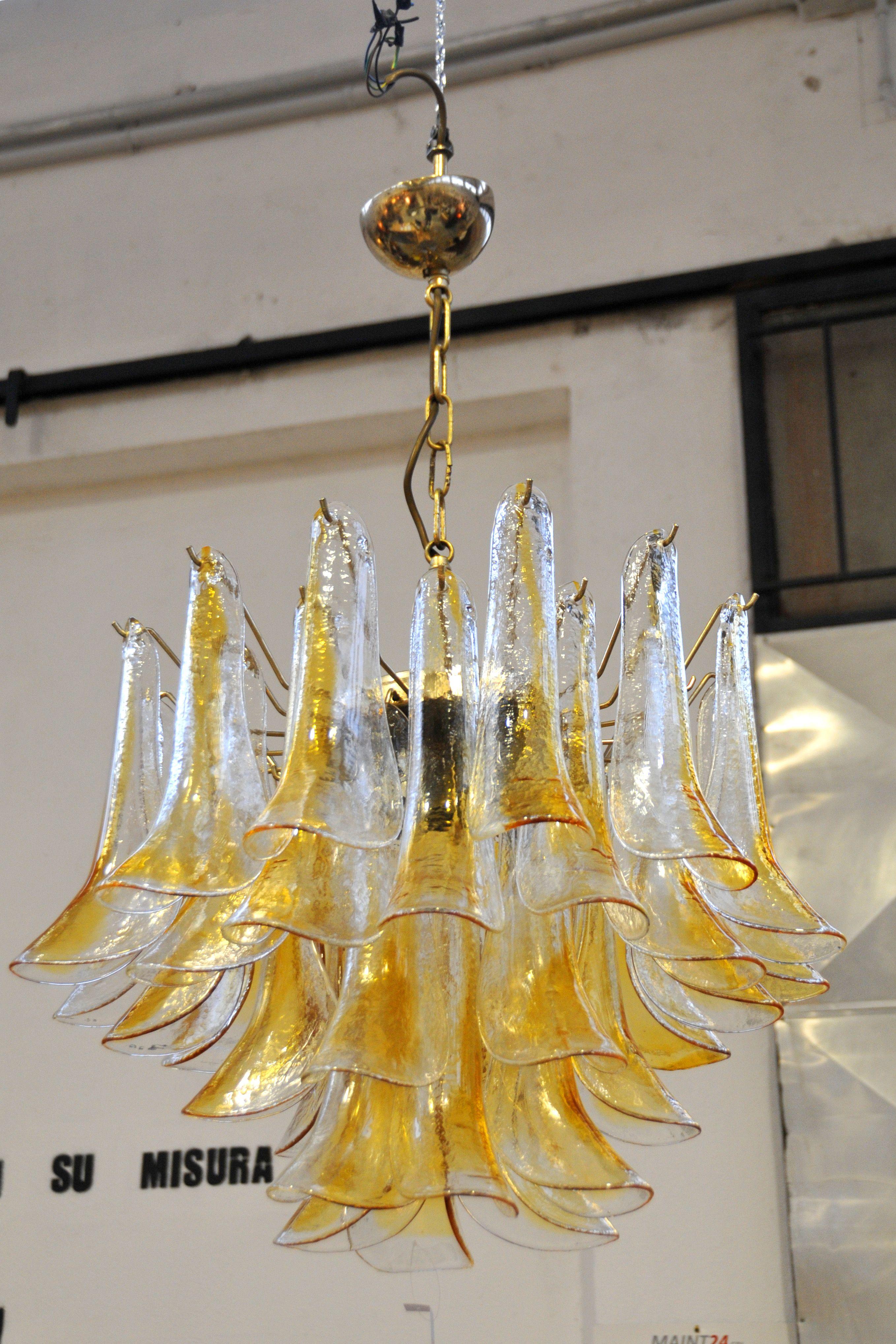 Lampadario vetro di murano anni '70. Lampadari