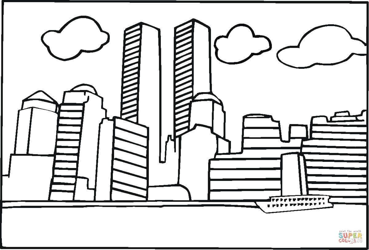 World Trade Center Before 9-11 | Super Coloring | 9/11/01 | Pinterest