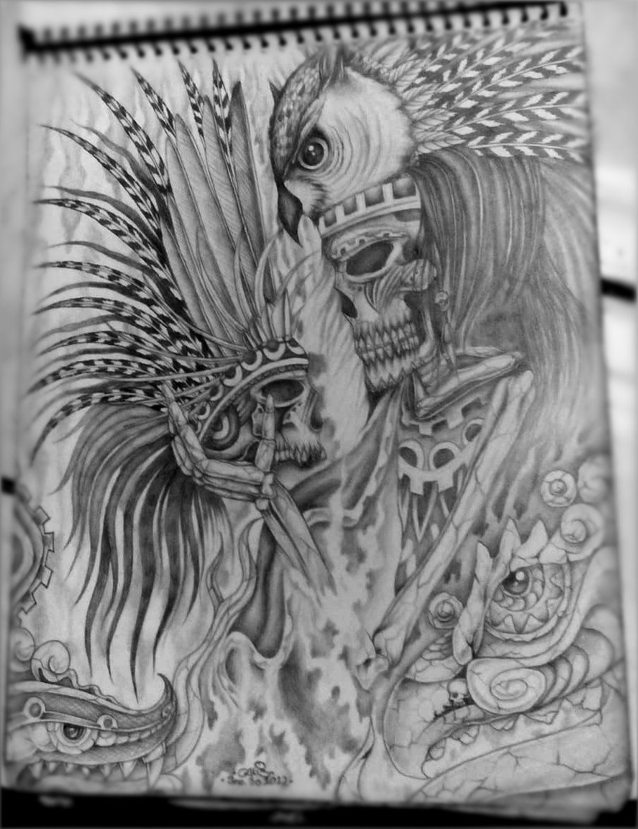 Dibujos Aztecas Lapiz Wwwimagenesmycom