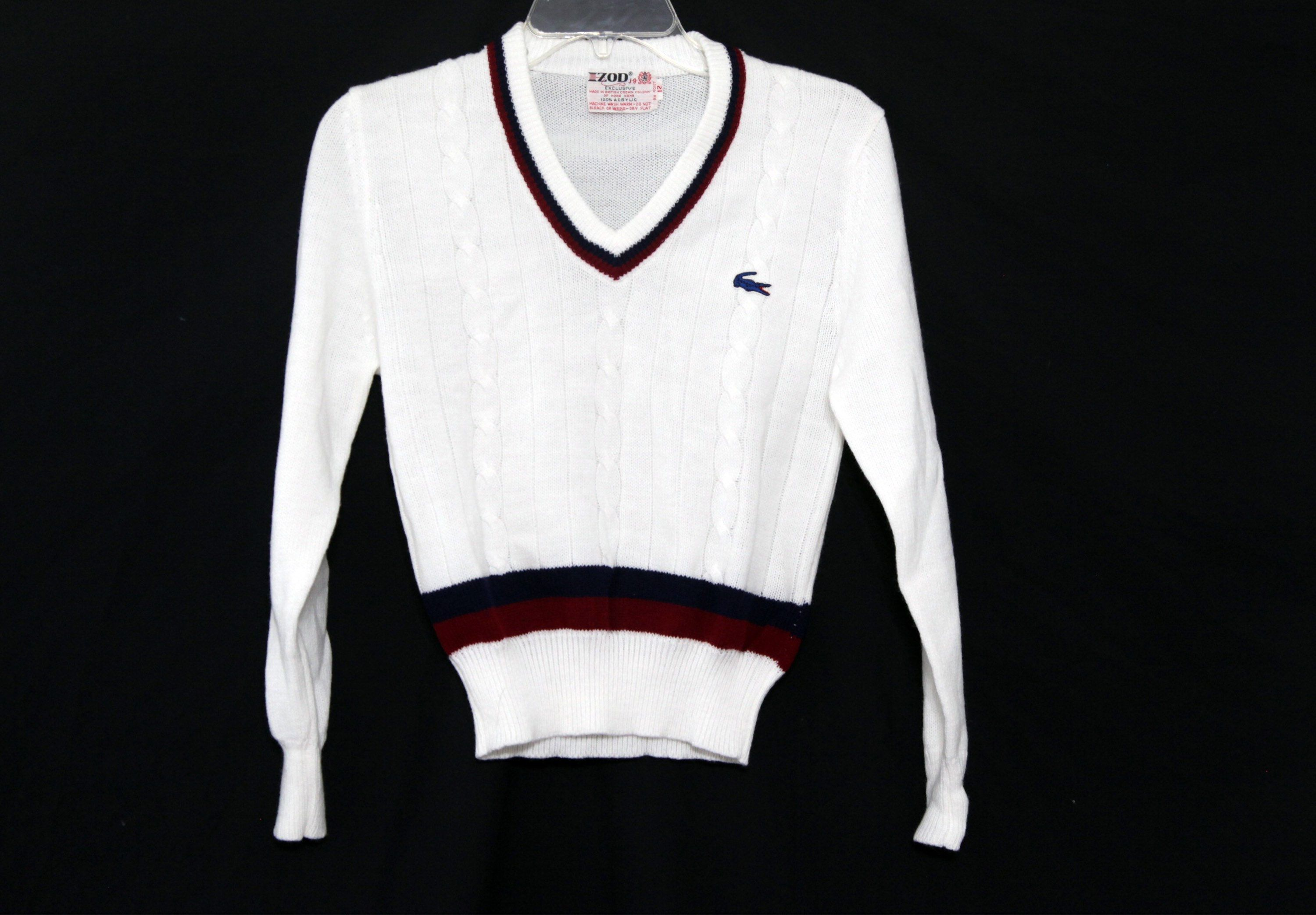 92c98cdb745 Vintage 80s Lacoste sweater vneck tennis preppy crop top womens kids by  216vintageModern on Etsy