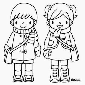 Dibujos para colorear. Maestra de Infantil y Primaria.: El colegio