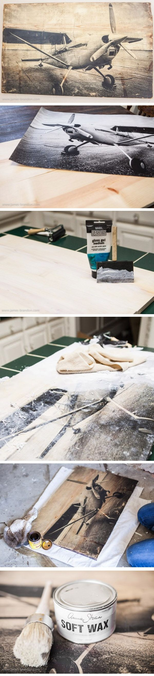 Overfør laserprint fotos til træ (Laser Printed Photo transfer to Wood Panel  :: laser printed photo, wood panel, acrylic gel medium, brush, pigment ink and wax. or mod podge ( detail:: http://www.katiesrosecottageblog.com/2012/06/photo-transfer-to-wood-tutorial.html ))