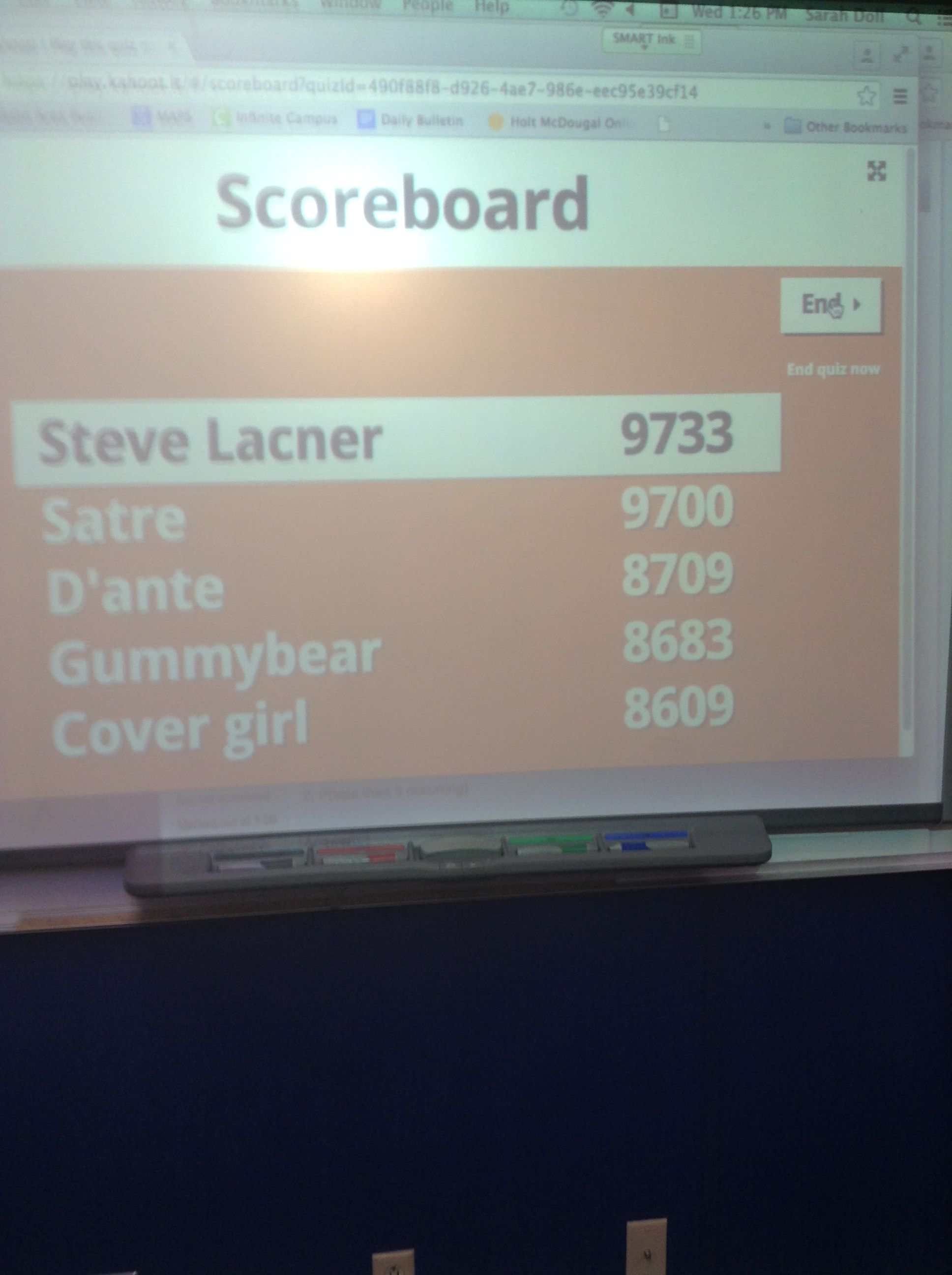 So our math teacher let us chose any name as long as it