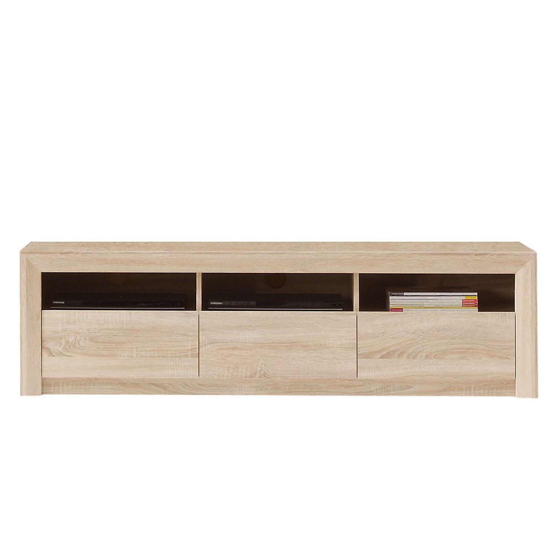 Tv lowboard hängend eiche  TV-Lowboard Santandria - Eiche Sonoma Hell Dekor - 164 cm ...
