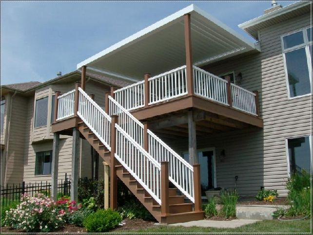 Roof Over Stairs Backyard Canopy Deck Canopy Roof Design