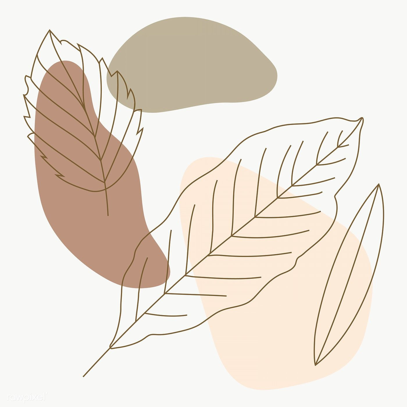 Leaf Line Art Pattern Background Transparent Png Premium Image By Rawpixel Com Katie Line Art Drawings Abstract Line Art Pattern Art