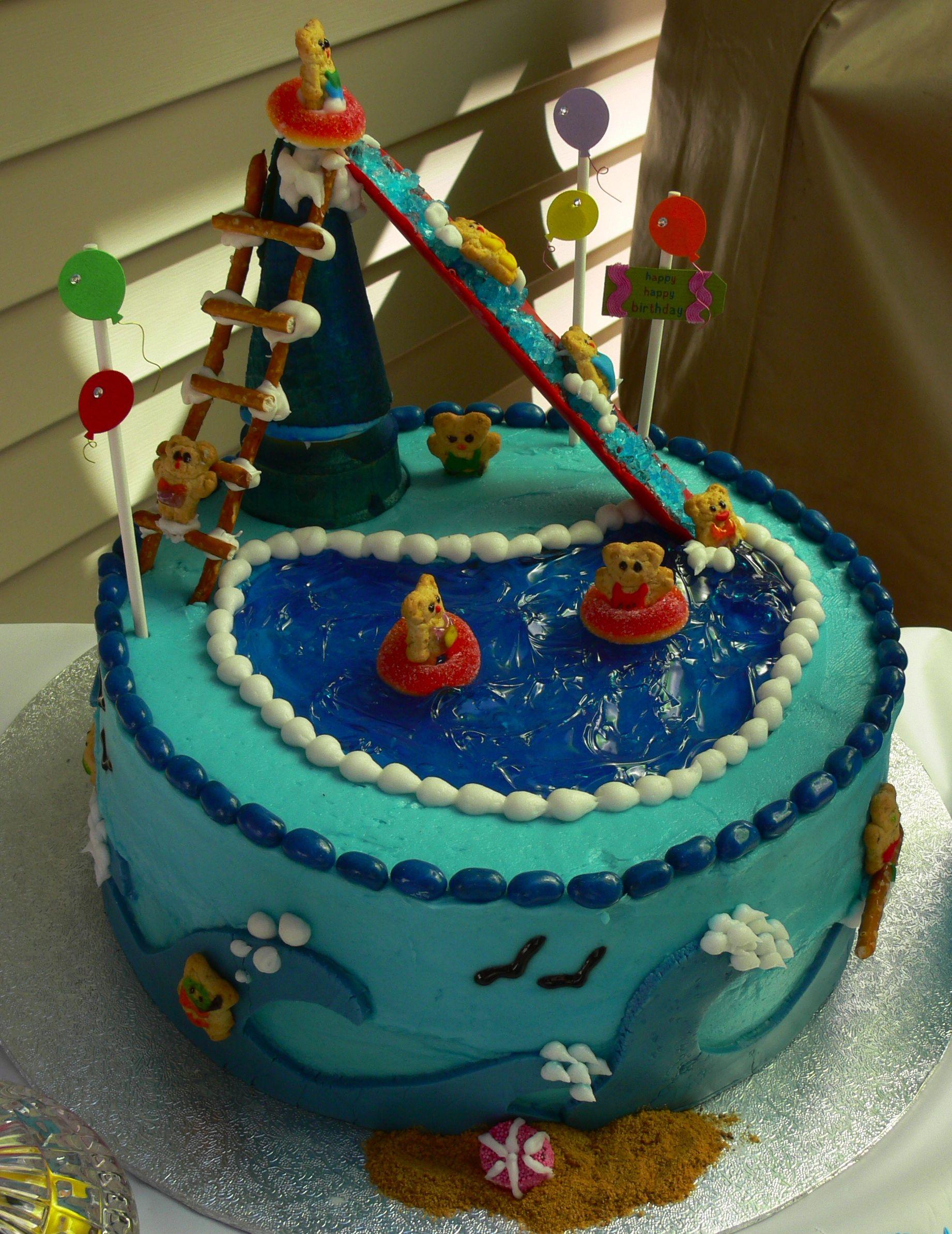 Swimming pool cake Pool cake, Cake, Dessert decoration