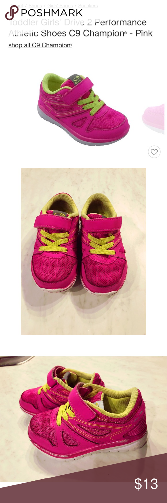 4d3eb139026 Toddler Girl Pink Sneakers size 7 Toddler girl Pink C9 Champion Sneakers  Good condition (still has lots and lots of life left) Size 7 Beautiful Pink  color ...