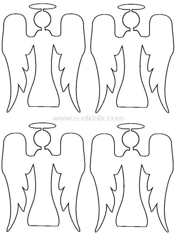 Melek Boyama Googleda Ara Angel Christmas Coloring Pages