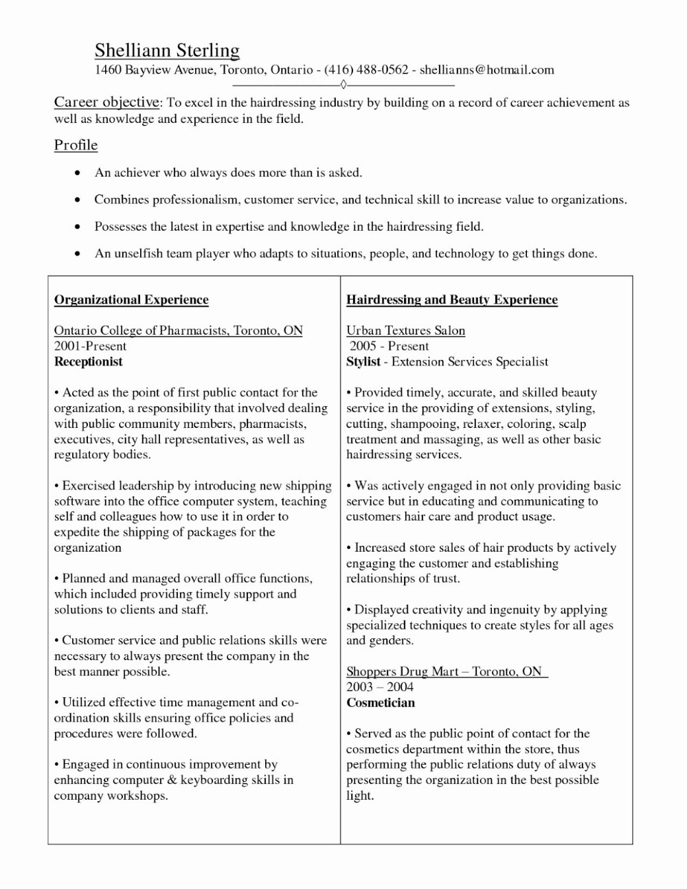 Esthetician Resume Example 2019 Cover Letters 2020 → CLICK