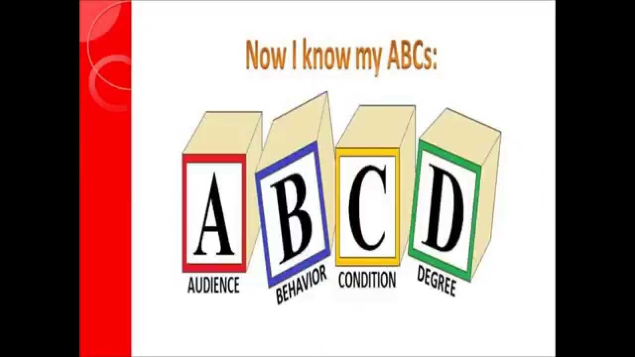Writing Learning Objectives The Abcd Method Learning Objectives Lesson Plan Templates Instructional Design How do you write abcd objectives