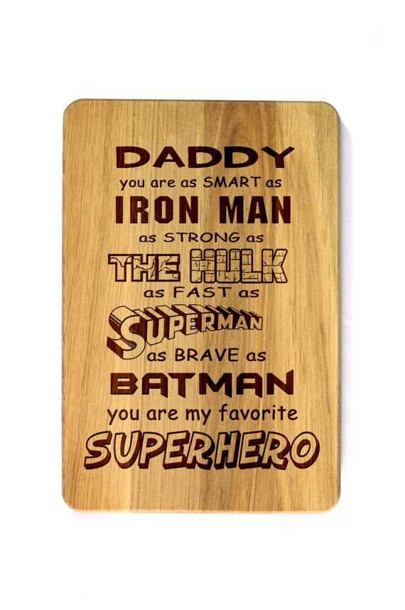 Fathers Day Gift Cutting Board For Father Engraved Personalized Birthday