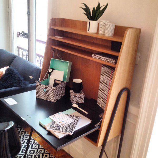 un bureau troit et fonctionnel inspiration bureau pinterest bureau la redoute et the office. Black Bedroom Furniture Sets. Home Design Ideas