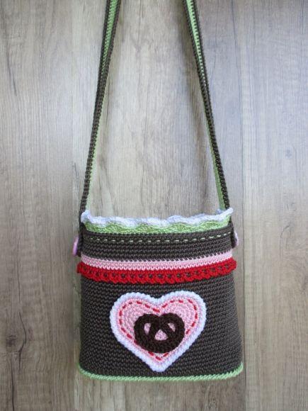 Wiesn Tasche Häkelanleitung Nice Bags Crochet Knitting Baby