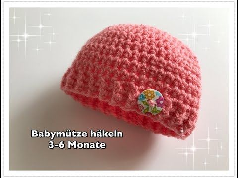 Photo of SUPER EINFACHE Babymütze häkeln 3-6 Monate