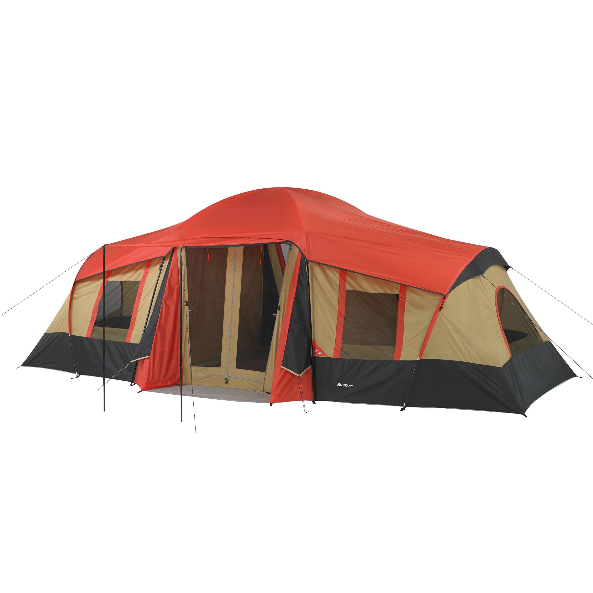 Ozark Trail 10 Person 3 Room Vacation Tent Built In Mud Mat Outdoor C&ing Dome  sc 1 st  Pinterest & Free 2-day shipping. Buy Ozark Trail 10-Person 3-Room Vacation ...