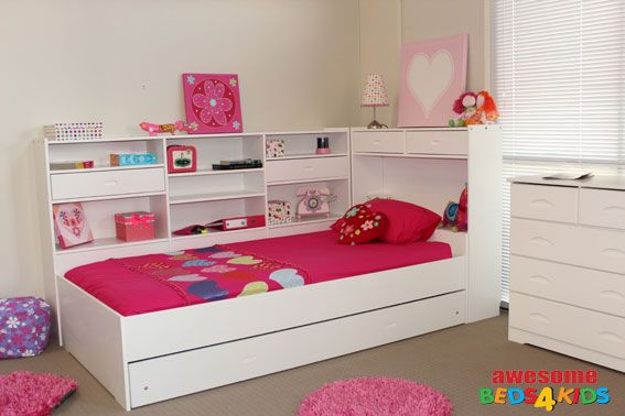 Another Girls Bed With Storage For The Home Bed Childrens