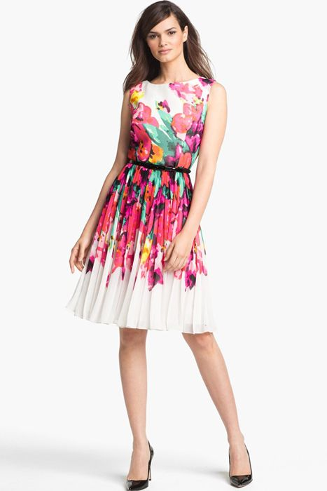 5342678f0e97 Looking to add a splash of vibrant colour to your wedding party? - How  about this Adrianna Papell Print Fit & Flare Dress