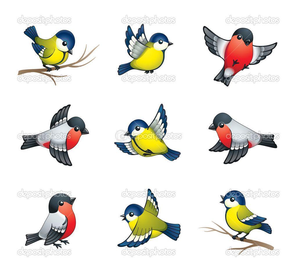 冬の鳥のイラスト - ストックイラストレーション: 7180384 | logo