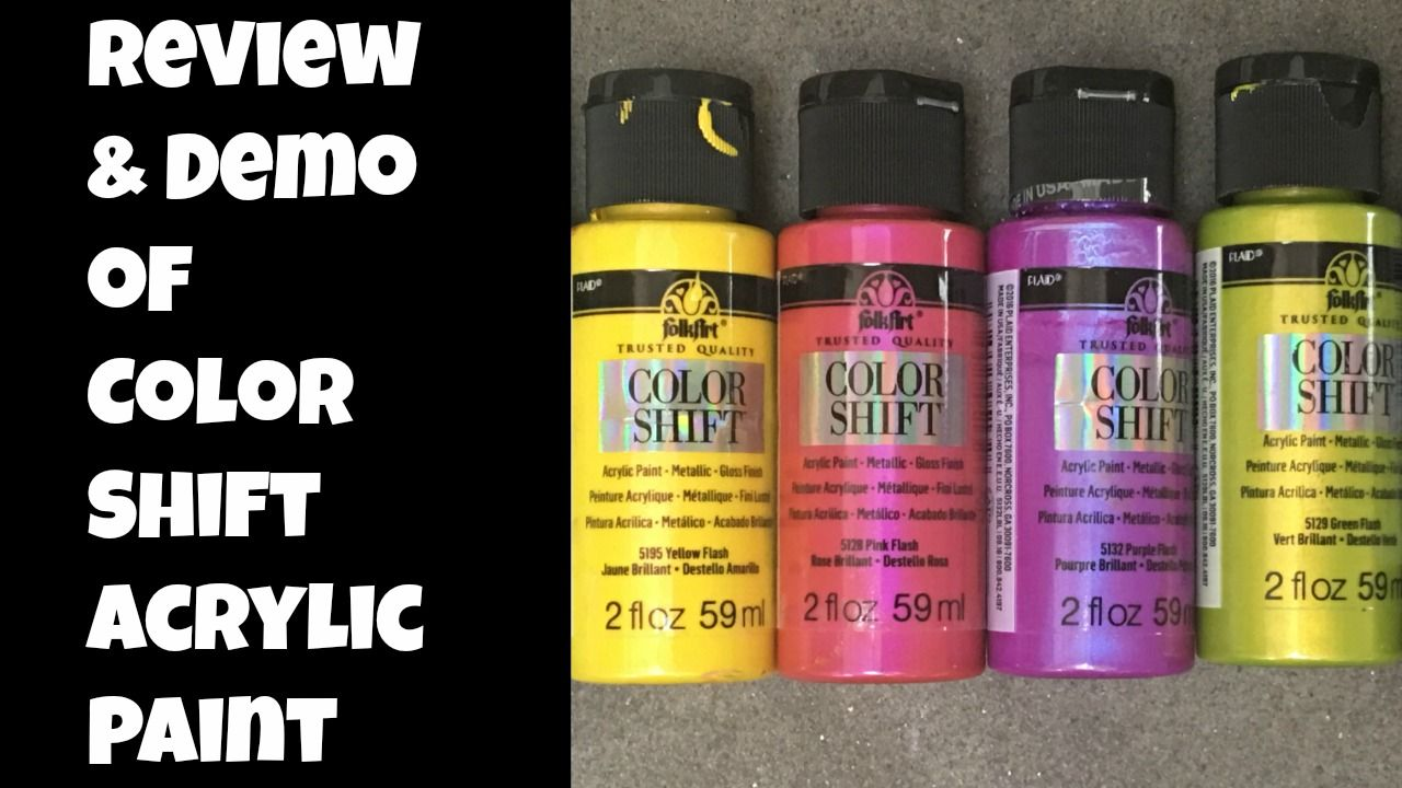 Folk art acrylic paint color chart - Folk Art Color Shift Acrylic Paints Craft Test Dummies