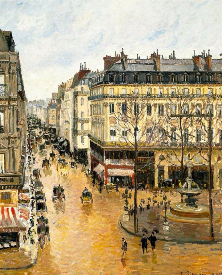 Rue Sant-Honoré in the Afternoon. 1897. Camille Pissarro