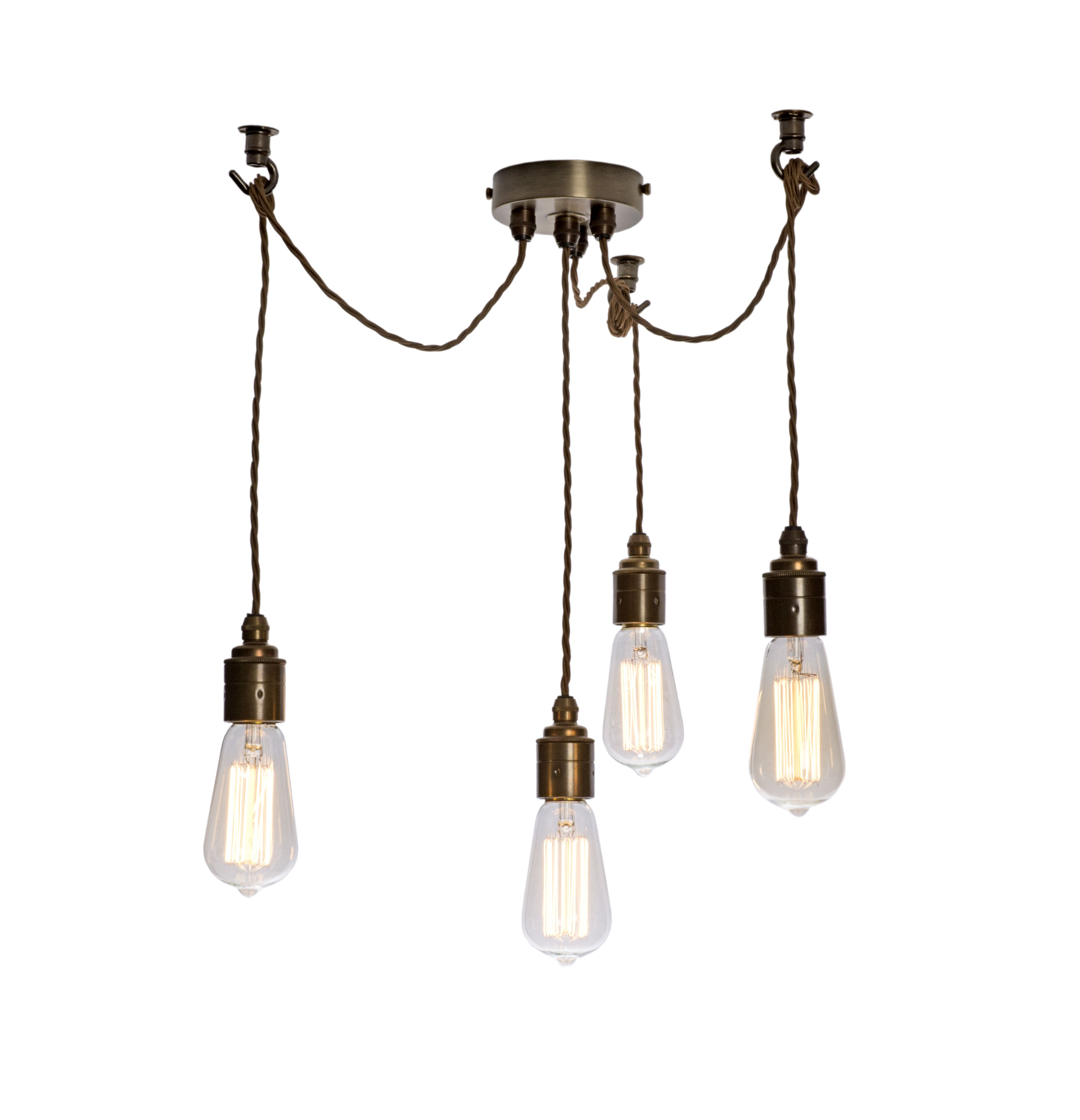Multi Drop Cord Grip Ceiling Plate In Antique Finish Ceiling Lights Lighting Parts Ceiling