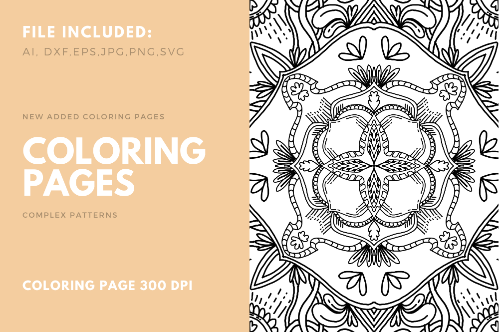 Geometric Coloring Book For Kdp Graphic By Stanosh Creative Fabrica Coloring Books Coloring Book Pages Coloring Pages