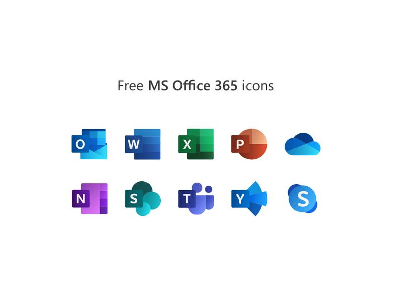Free Microsoft Office 365 icons