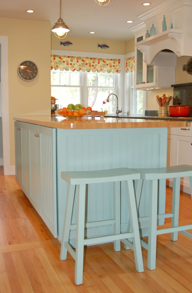 wrapping kitchen island in beadboard | Beadboard Island with ...