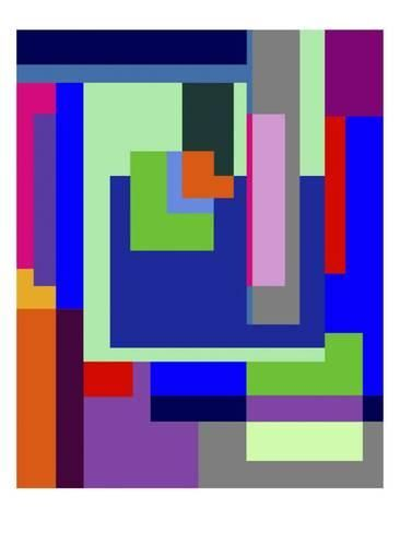 Colored Maze Giclee Print Diana Ong Art Com Giclee Print Labyrinth Poster Giclee