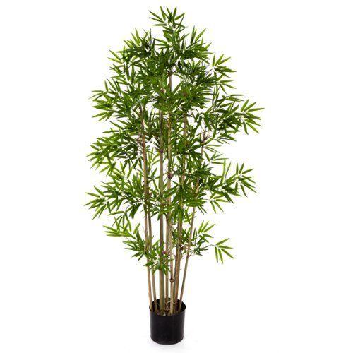 Kunstlicher Bambus Yan Mit 480 Kleinen Blattern 80 Cm