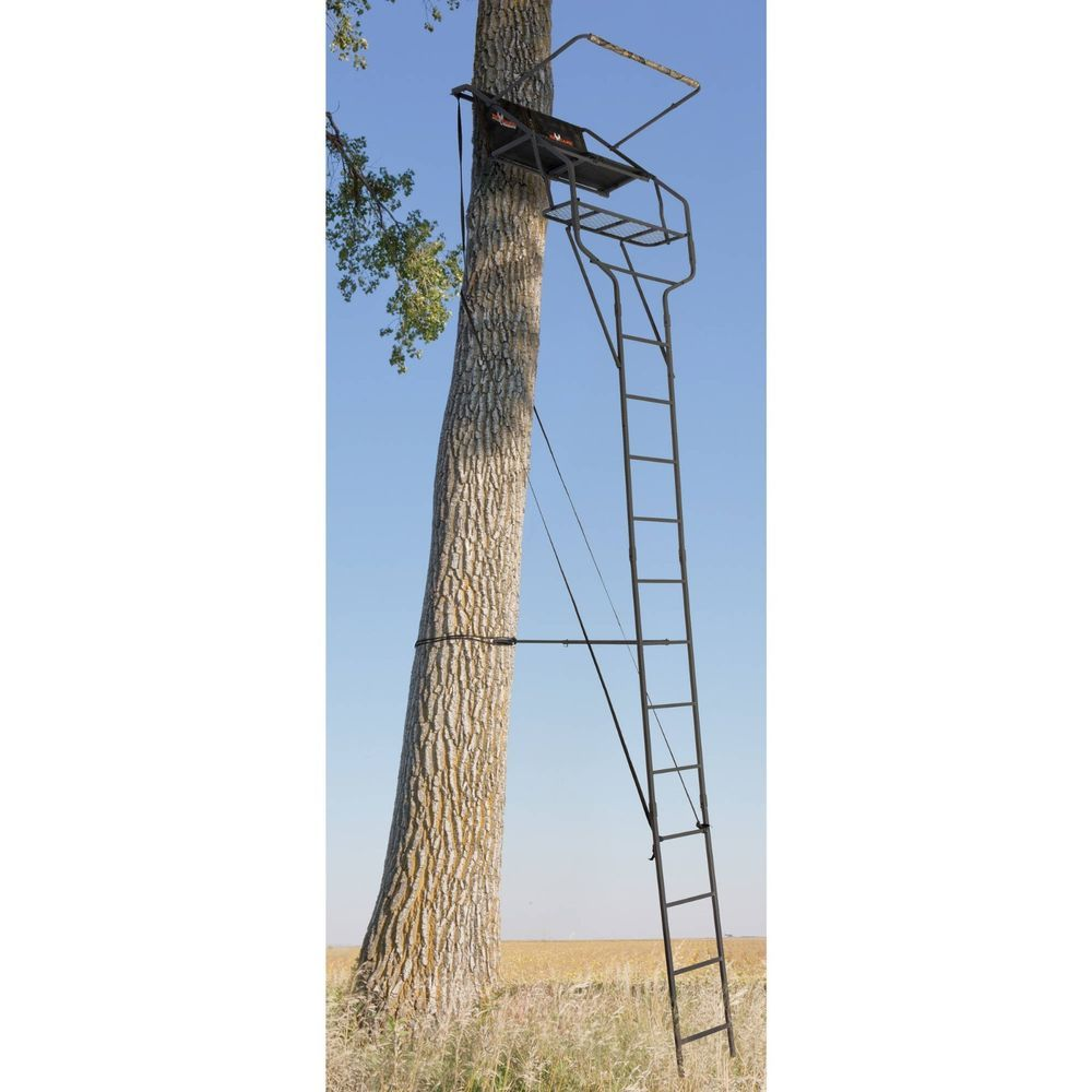 Ladderstands Ladder Stand Tree Stands For Hunting Turkey Seat Deer Two Man Blind Biggametreestands Ladder Tree Stands Ladder Stands Types Of Hunting
