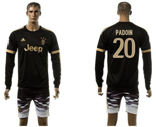 Juventus #20 Padoin SEC Away Long Sleeves Soccer