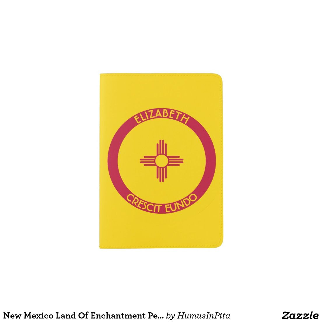 New Mexico Land Of Enchantment Personalized Flag Passport Holder
